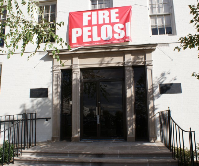 Fire Pelosi - Kampagne am RNC-Headquarter in D.C.