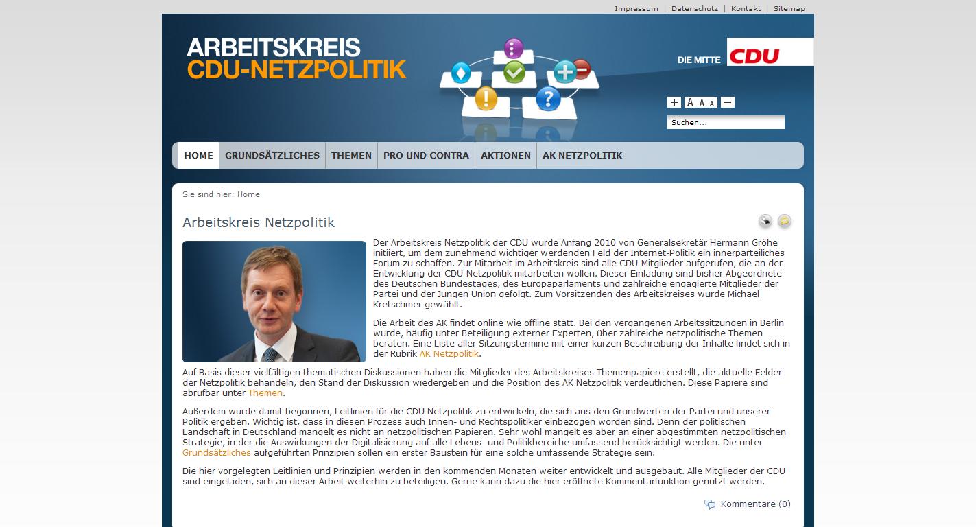 Screenshot: Arbeitskreis Netzpolitik