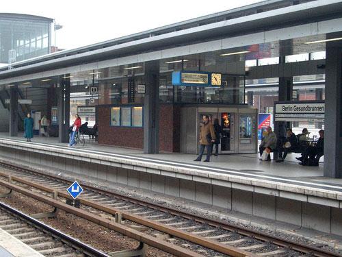 Bahnhof Gesundbrunnen im Oktober 2004