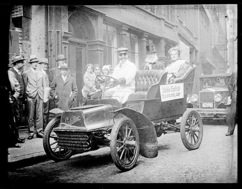 Uncle Eph's first and only car on parade