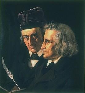 Die Brüder Grimm von Elisabeth Jerichau-Baumann [Public domain], via Wikimedia Commons