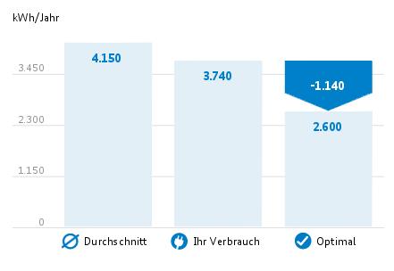 Verbrauchsziel 2013 (Screenshot: die-stromsparinitiative.de)