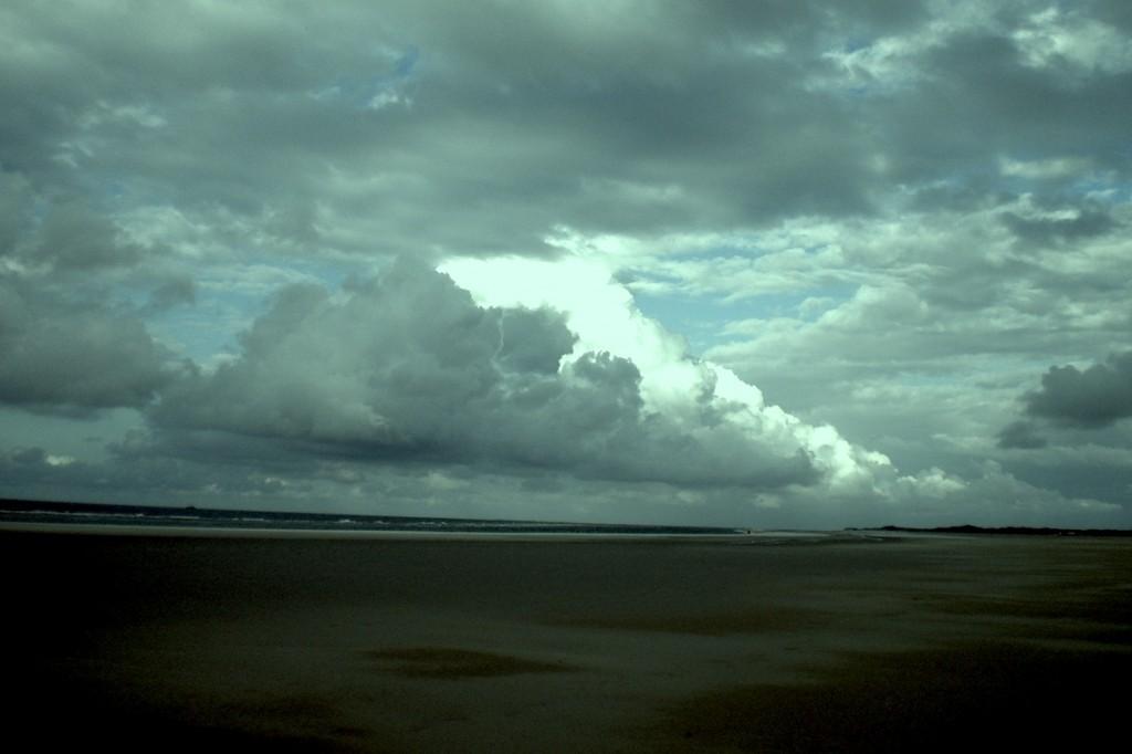 Wolken an der Nordsee