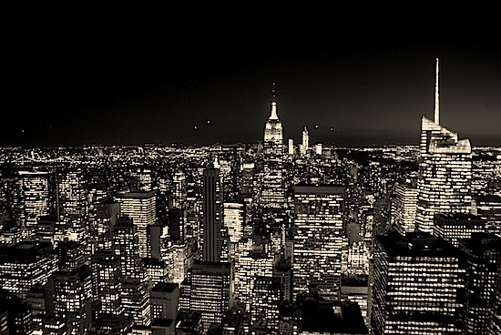 Top of the Rock: Blick auf Manhattan