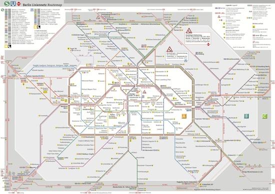 S- und U-Bahn-Netz in Berlin und Umgebung