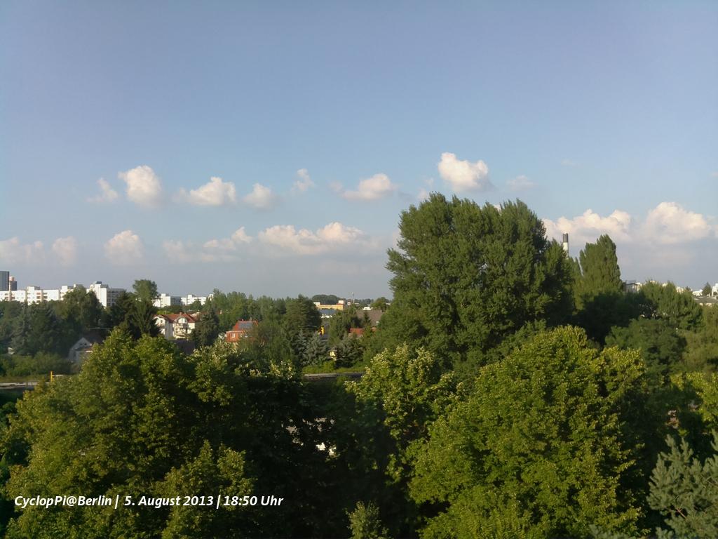 Blick aus dem Fenster mit der RaspberryPi-Cam