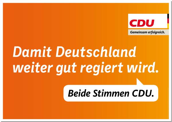 Beide Stimmen CDU.