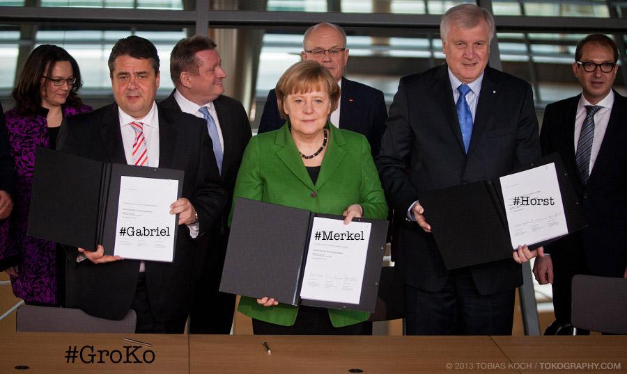Große Koalition mit Hashtags (Foto: Tobias Koch)